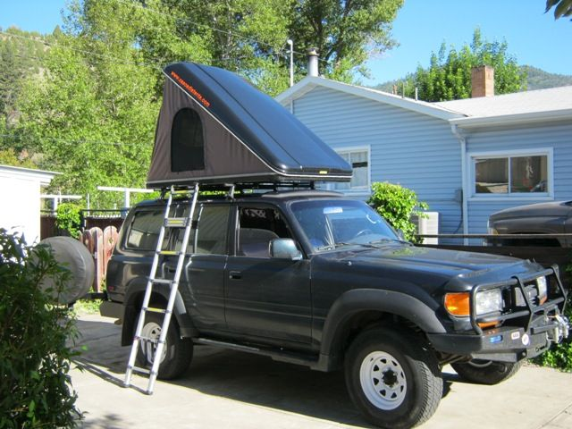 Land Cruiser with a CVT Mt. Baker clam shell Roof Top Tent.  & Land Cruiser with a CVT Mt. Baker clam shell Roof Top Tent. http ...