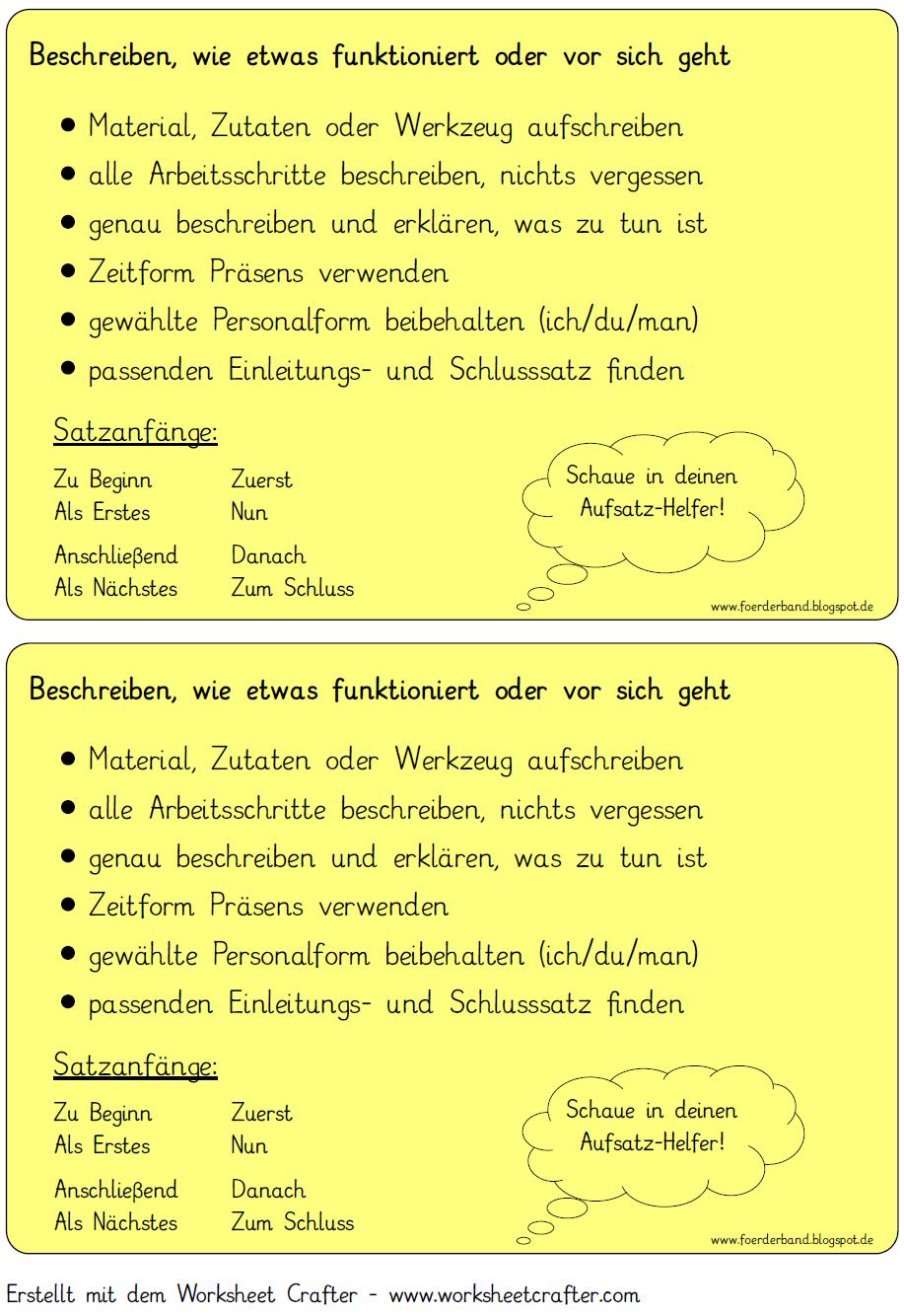 Vorgangsbeschreibung Checkliste Png 917 1334 Vorgangsbeschreibung Deutsch Unterricht Deutsche Schule