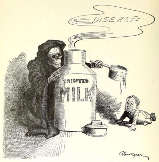 """seizurecube: """" terrifictentacle: """" lord-kitschener: """" """" It's not tainted milk, it's painted milk! """" """""""