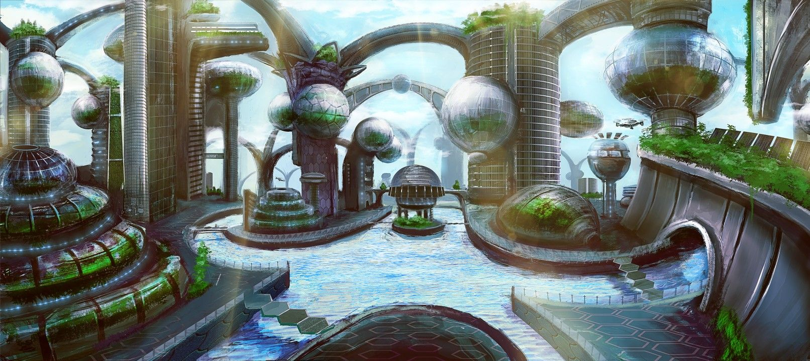 Sector 27 In Seraph City Solarpunk Eco City Eco Architecture Future City