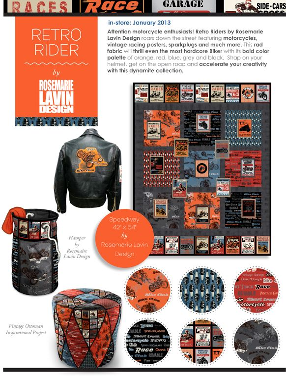 Retro Riders by Rosemarie Lavin Design is in stores NOW!!