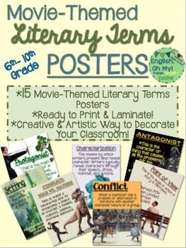 Literary Terms Posters Movie Themed Stories And Lit