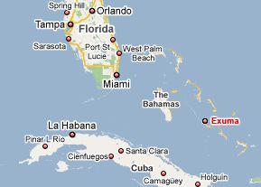 Exuma Bahamas Map Exuma, Bahamas Map   Holidays   Bahamas (BEST: MARCH APRIL