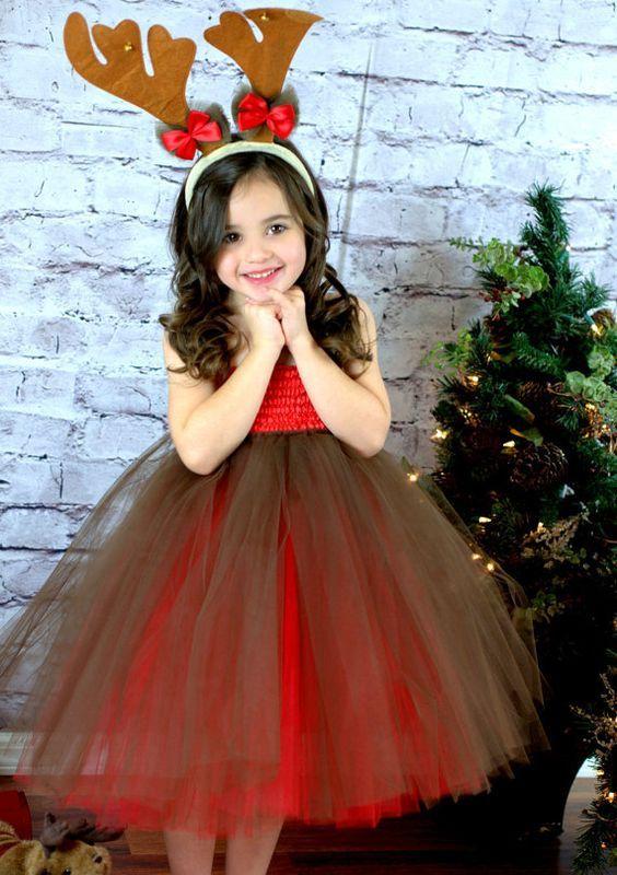 Trajes de navidad para ni as con tutu disfraces de - Disfraces infantiles navidad ...
