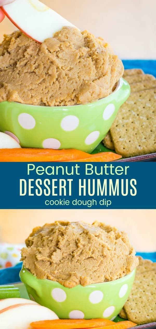 Peanut Butter Dessert Hummus Without Tahini - Cupcakes & Kale Chips
