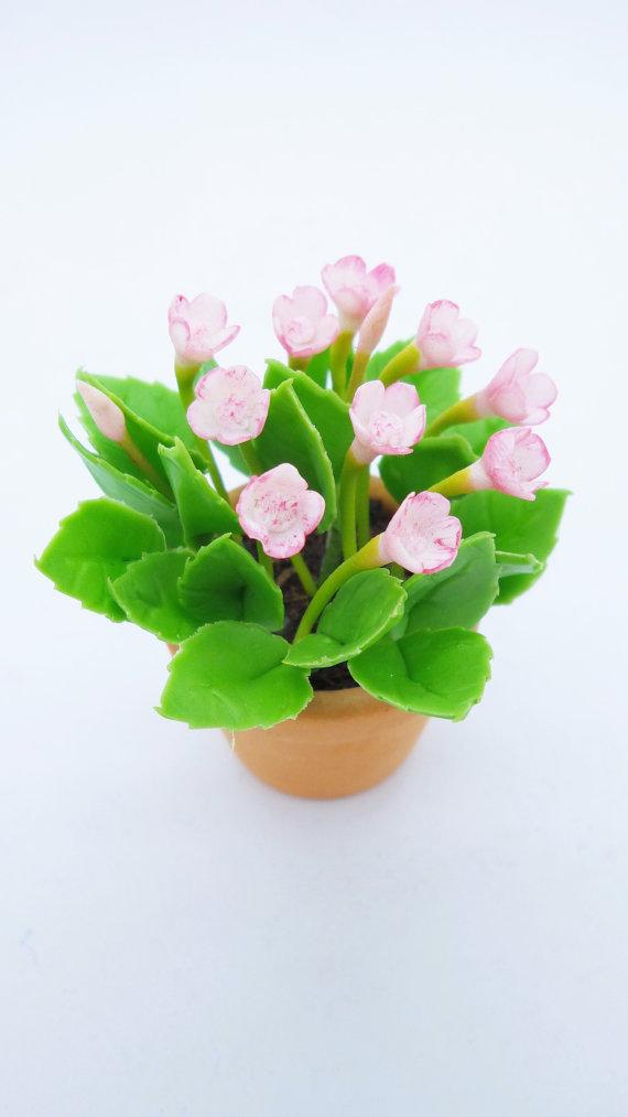 Wild Flowers English Garden Miniature Polymer by Mycraftgarden