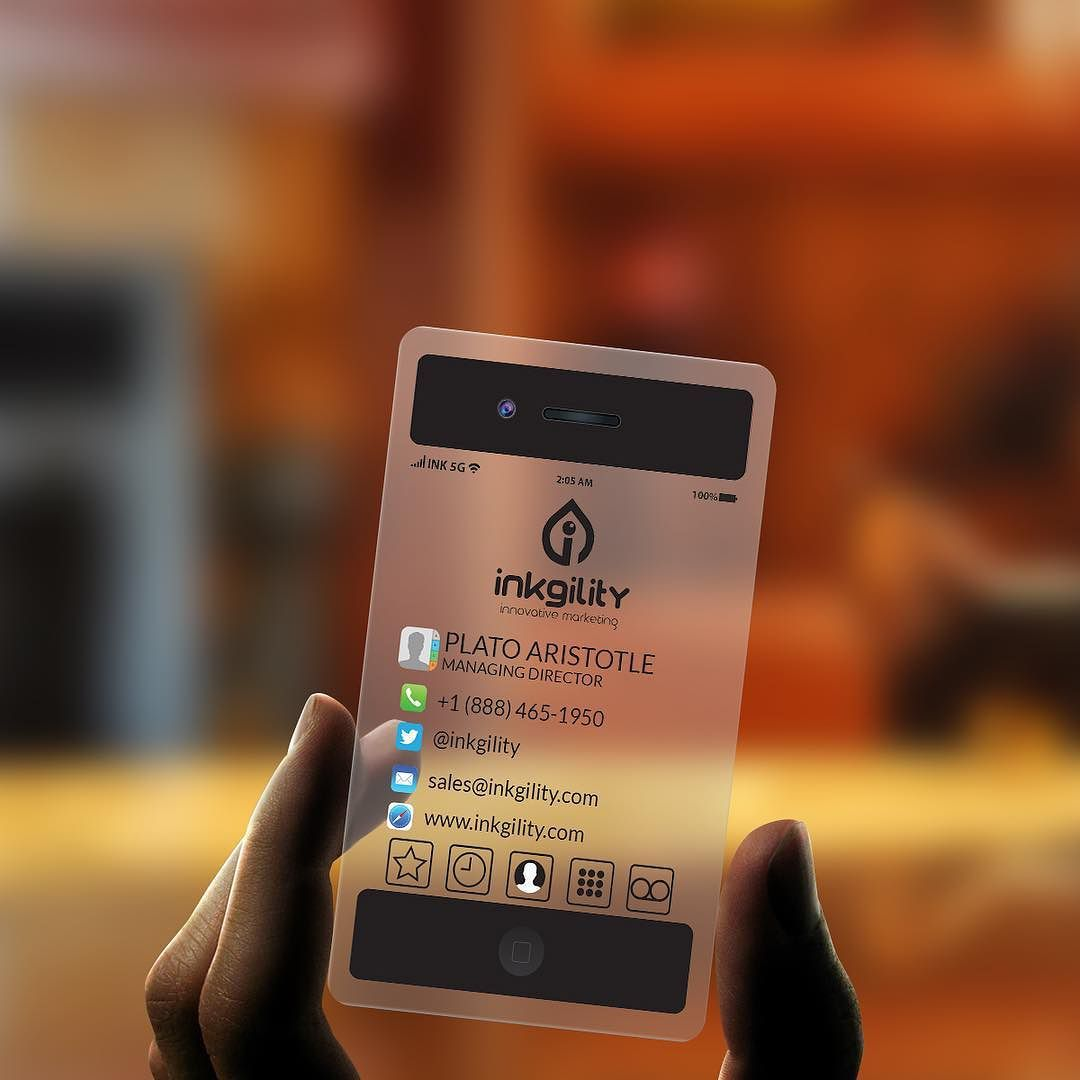 An innovative business card from @inkgility The World\'s Most ...