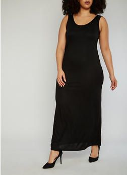 Black Tank Maxi Dress Plus Size