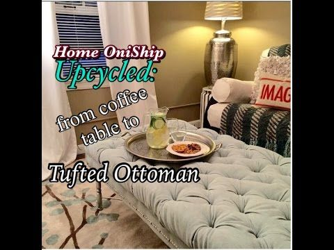 Magnificent Onified Diy Diamond Tufted Ottoman Youtube How To Machost Co Dining Chair Design Ideas Machostcouk