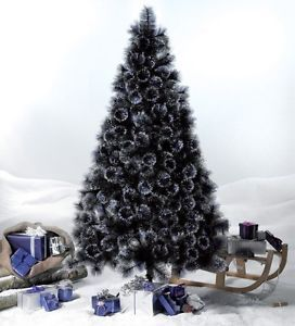 quality 6ft 7ft 8ft cream champagne black green glitter christmas tree bushy - Glitter Christmas Tree