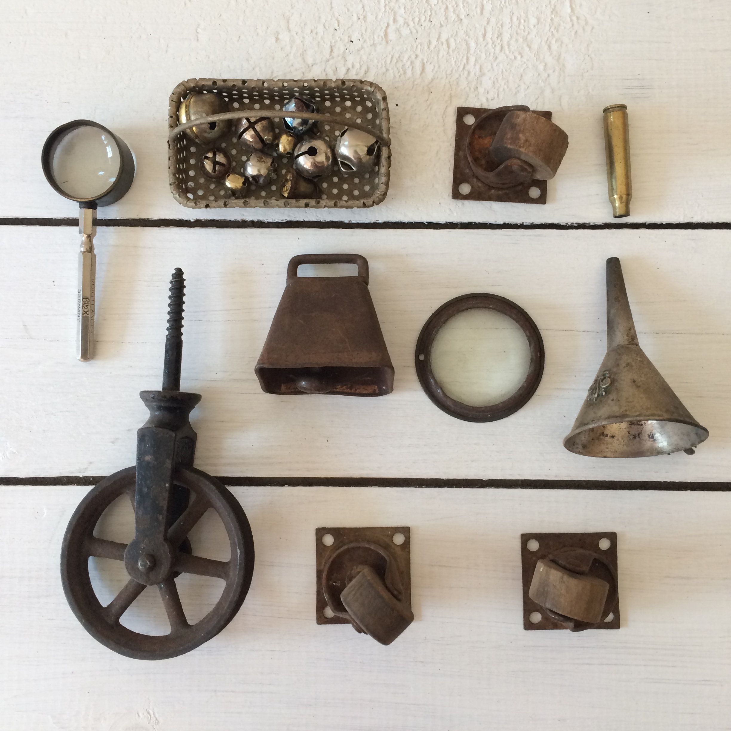 Collection of Vintage Metal Objects | Rusty Metal Wheels ...