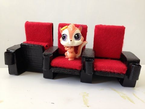 how to make lps movie theater chairs youtube - Movie Theater Chairs
