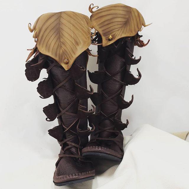 c50365ab986 Tread Light Knee-high Forest Boots www.treadlightgear.com  treadlight   treadlightgear  renaissance  woodland  elfin  faerie  fairy  leatherworker  ...