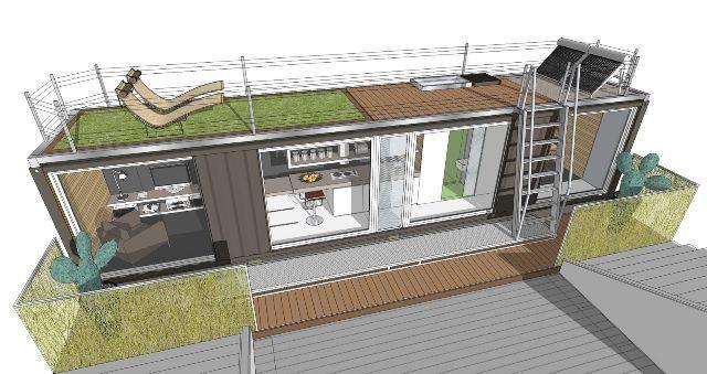 Casas container casa container pinterest projeto - Pallets por contenedor ...