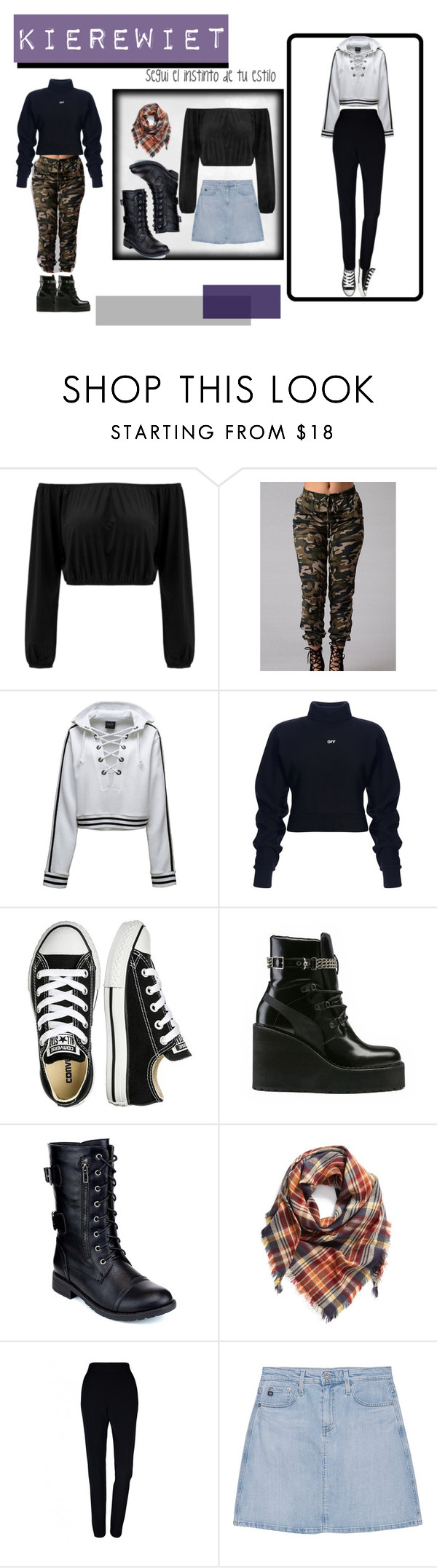 """""""Primer diseño"""" by micaela-coppola on Polyvore featuring Puma, Converse, Refresh, BP., Plakinger y AG Adriano Goldschmied"""