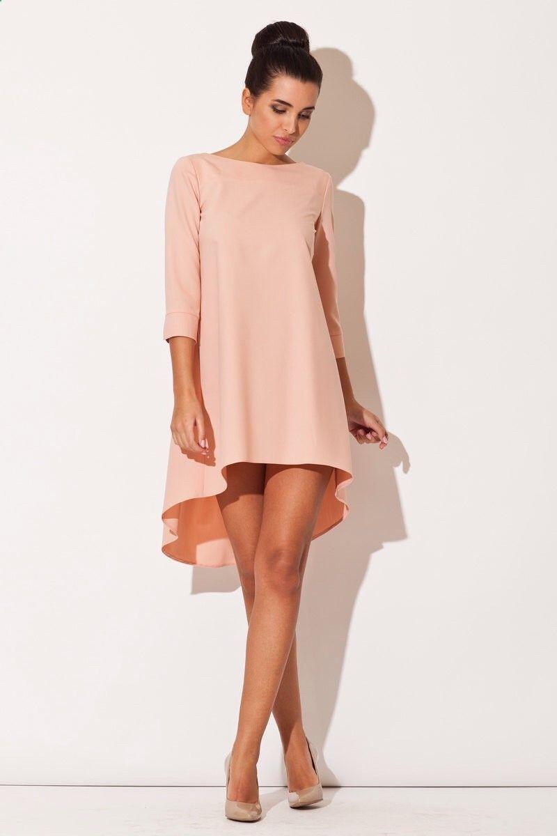 light pink skater dress long slevees woman cocktail dress