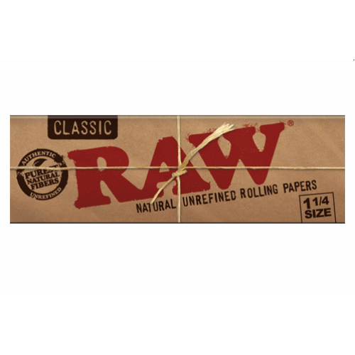 Raw Classic 1 1 4 Rolling Paper 32 Leaf Single Booklet Rolling Paper Raw Papers Classic Papers