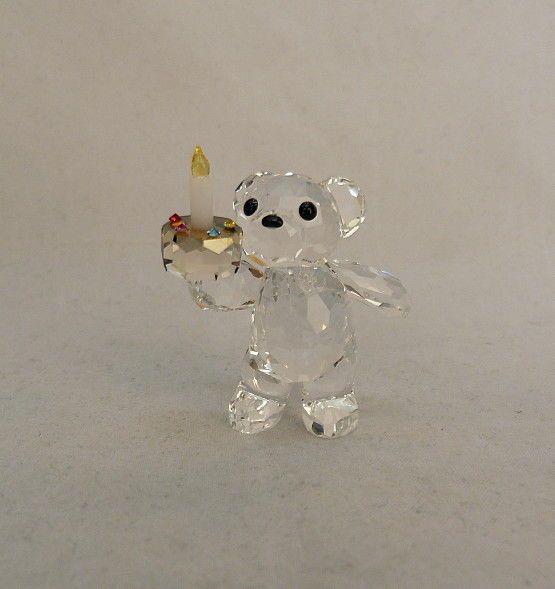 Swarovski your big day birthday cake kris bear crystal figurine