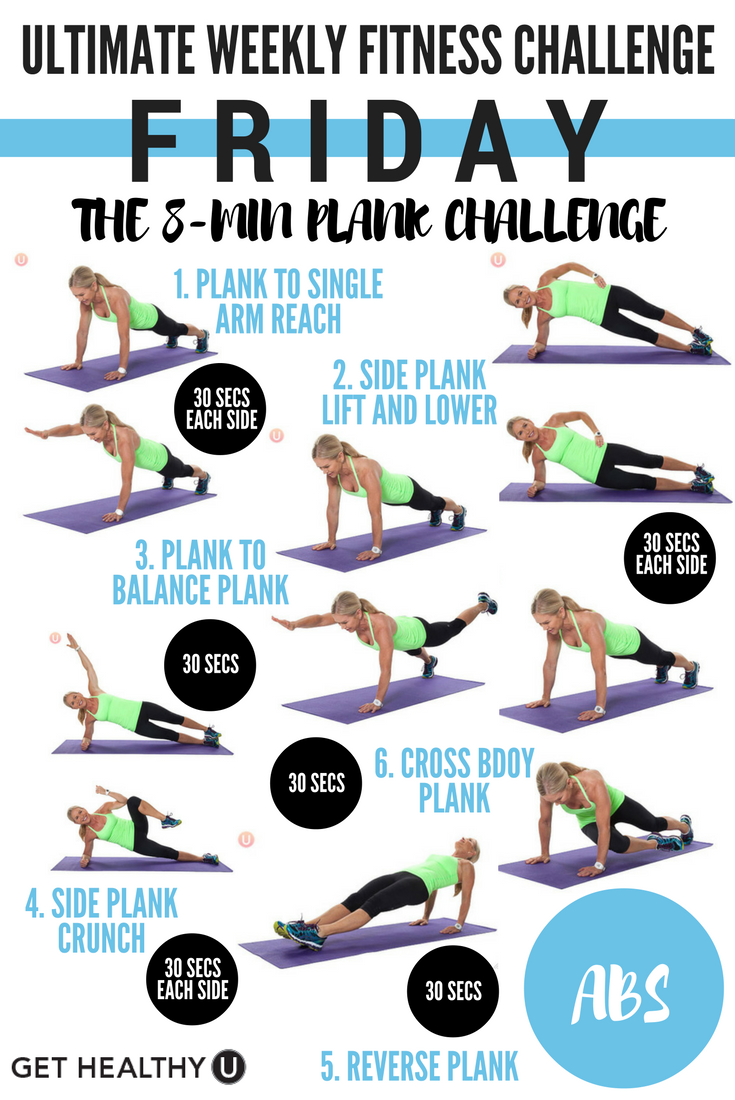 Ultimate Weekly Fitness Challenge Get Healthy U Workout Challenge Weekly Fitness Challenge Challenges