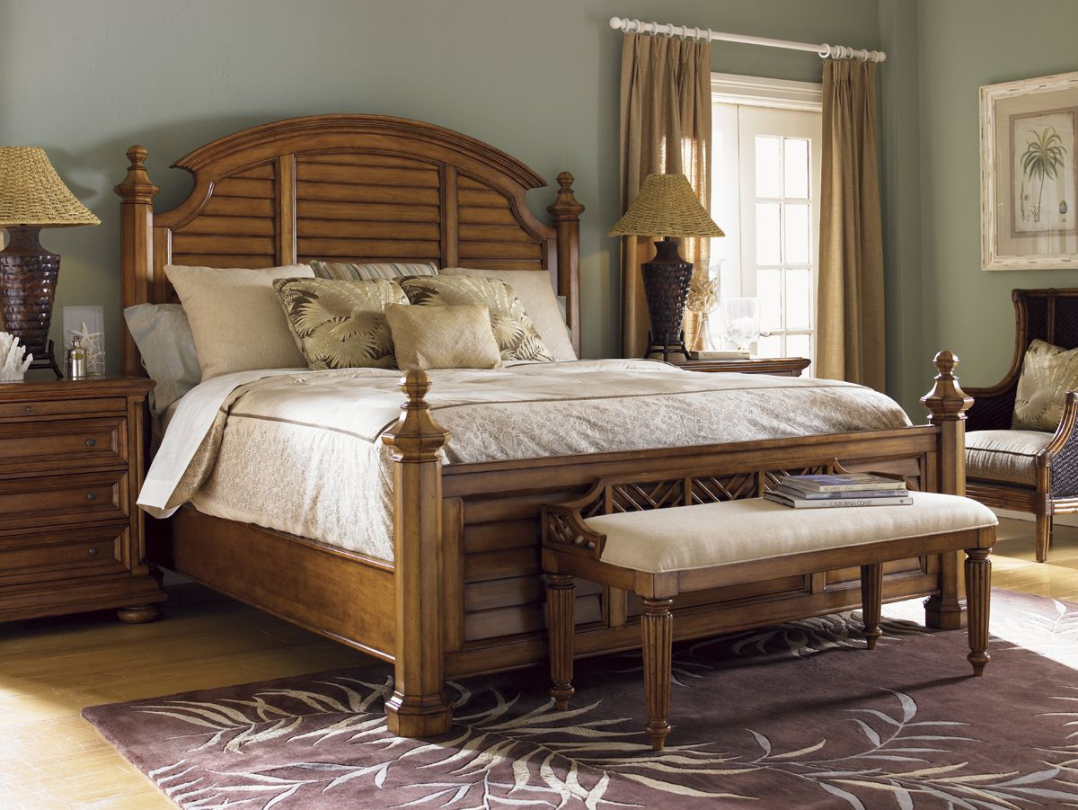 Island Estate Plantain Bed Bench Lexington Home Brands Tommy
