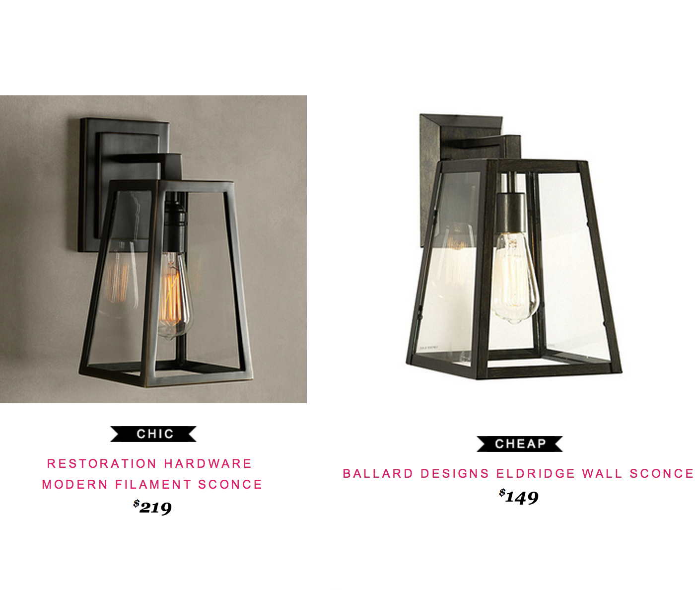 Restoration hardware modern filament sconce 219 vs ballard restoration hardware modern filament sconce 219 vs ballard designs eldridge wall sconce 149 cottage lightingdining lightingoutdoor aloadofball Images