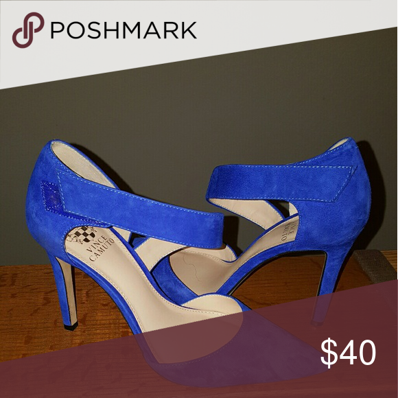 Vince Camuto Blue Suede Shoes | Blue