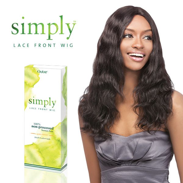 Outre Simply 100 Non Processed Brazilian Hair Lace Front Wig Natural Wave