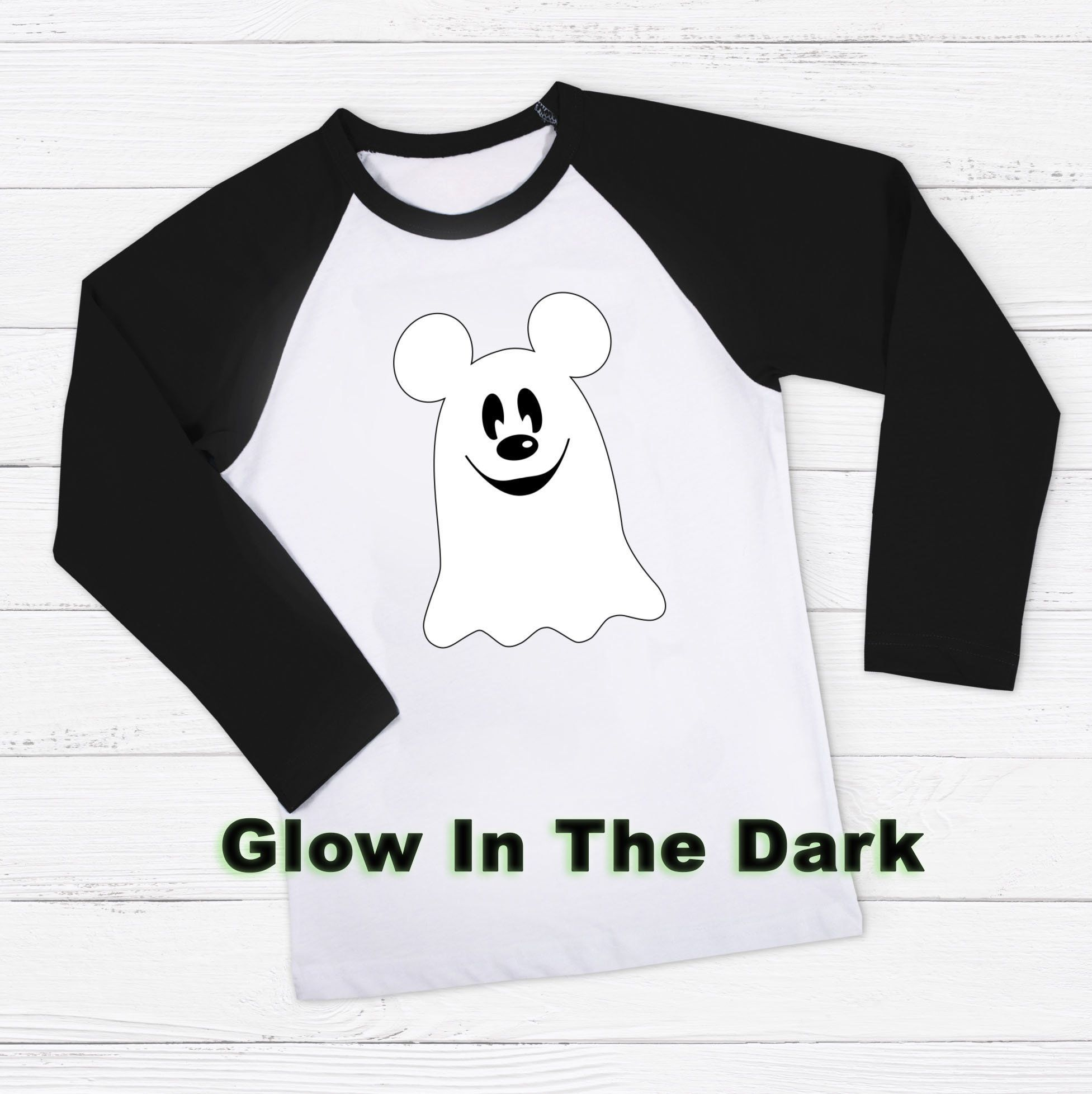 2cd3ae0fdad Mickey Ghost Glow In The Dark Personalized Shirt