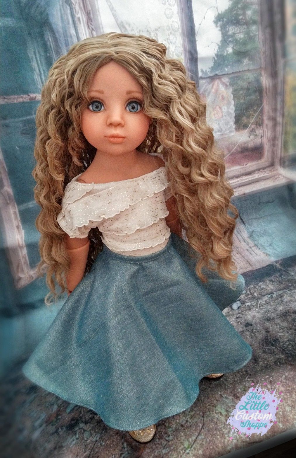 Viktoria Gotz Happy Kidz Chosen artist doll by Shai Hoffer at The Little Custom Shoppe OOAK puppe  #naturalashblonde