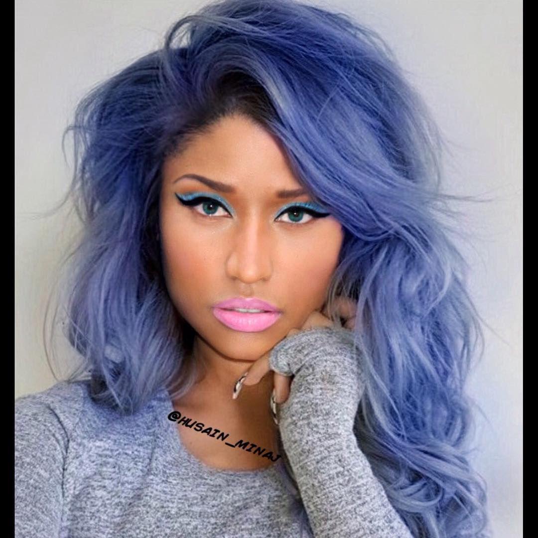 2014 2015 Celebrities Music Nicki Minaj Hip Hop Pop Onika Tanya Maraj Wednesday Cotton Candy Hair Long Weave Hairstyles Hair Hacks