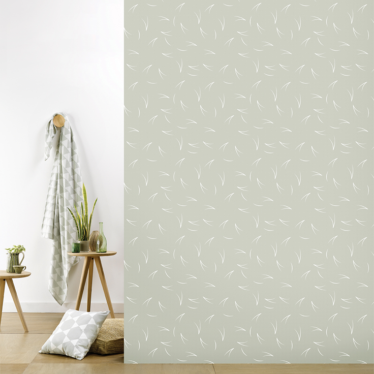 roomblush behang wallpaper pine needle warmgrey behangpapier woonkamer slaapkamer interieur design muurdecoratie