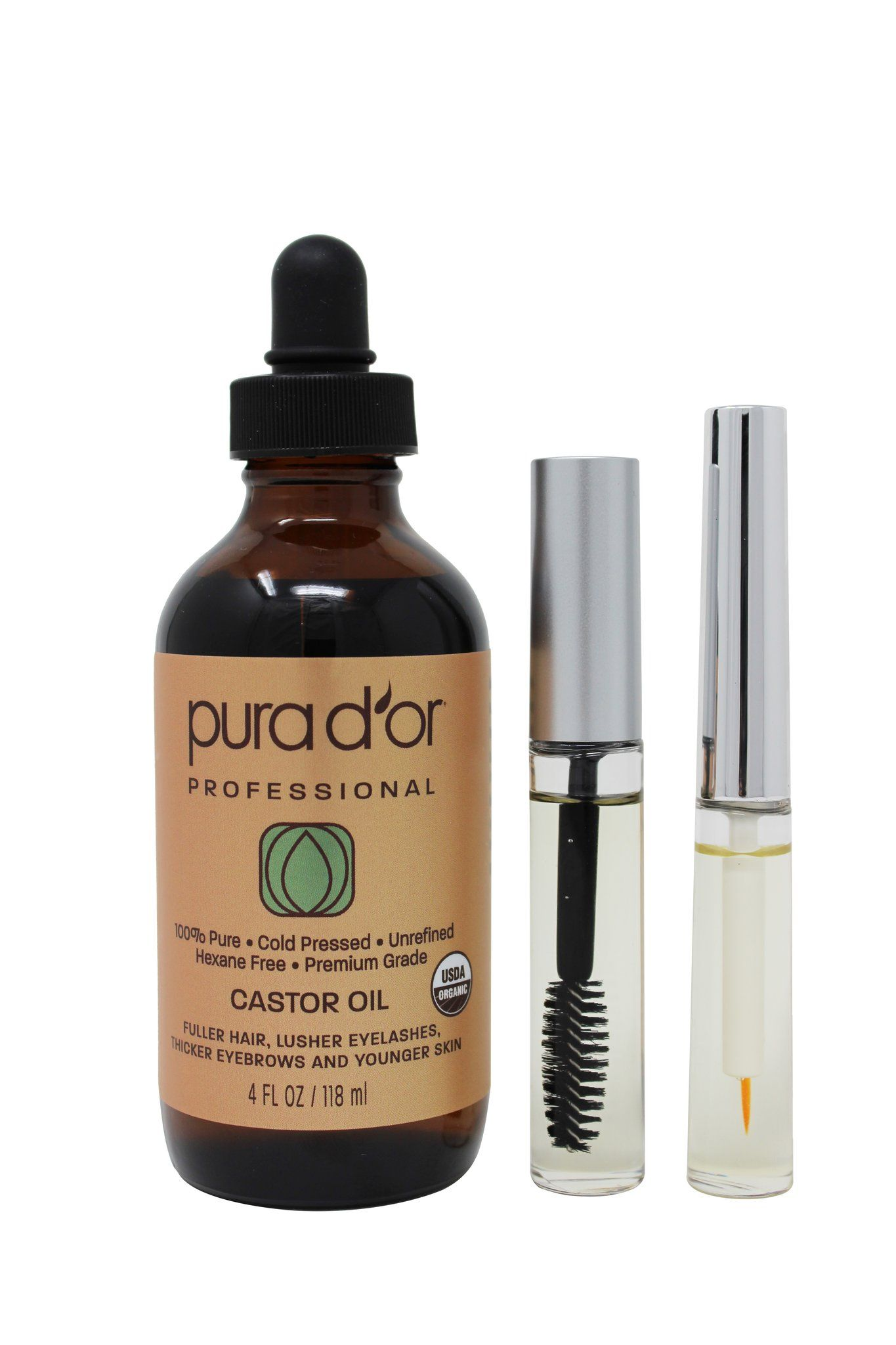 4oz Castor Oil Includes Bonus Brush Kit 100 Pure Usda Organic Usda Organic Castor Oil Brush Kit