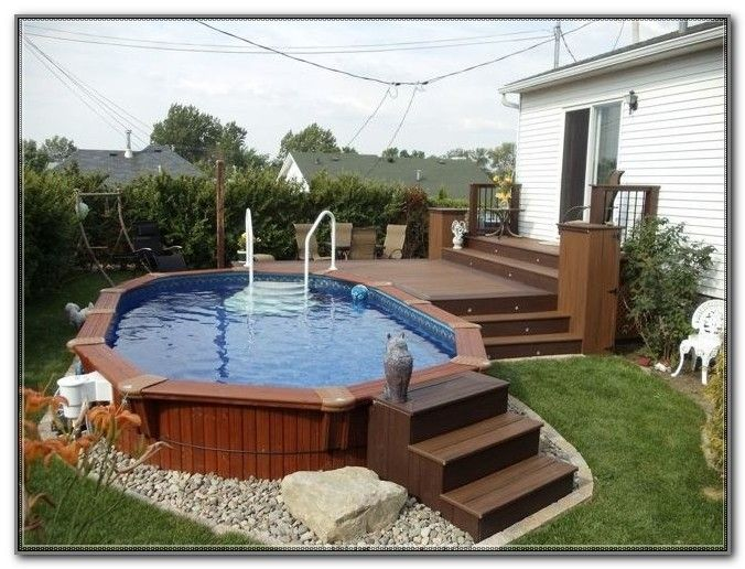 Image Result For Small Above Ground Pool Deck Deck Designs Backyard Small Backyard Pools Small Backyard Decks