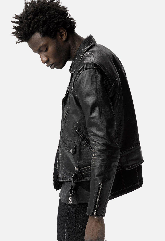 John Elliott X Blackmeans Yuji Rider S Jacket Black John Elliott Riders Jacket Jackets Leather Jacket [ 1440 x 984 Pixel ]