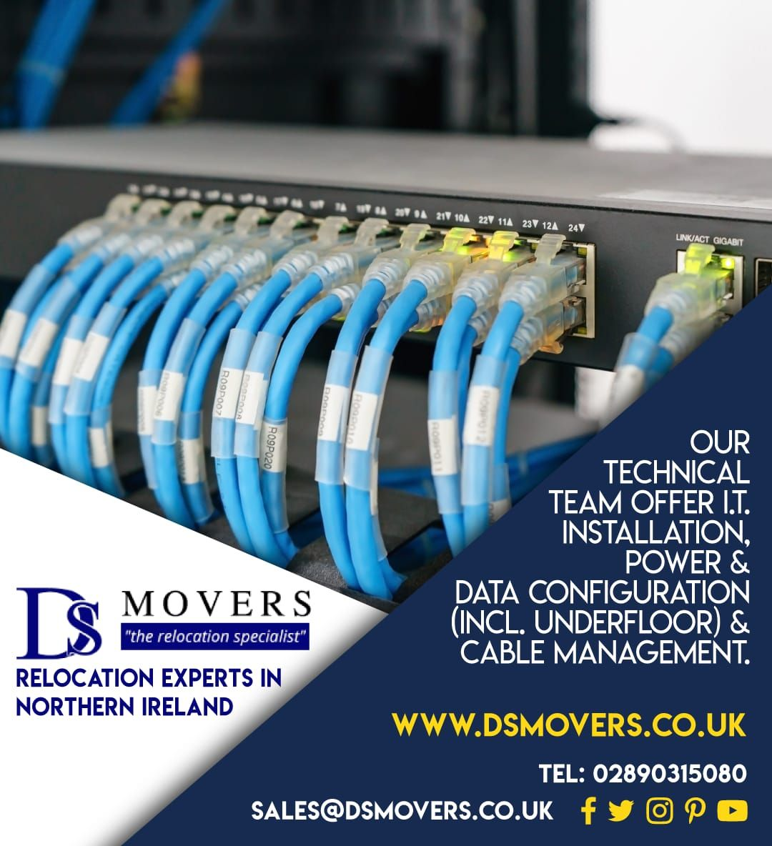 Our Technical Team Offers It Installation Power And Data