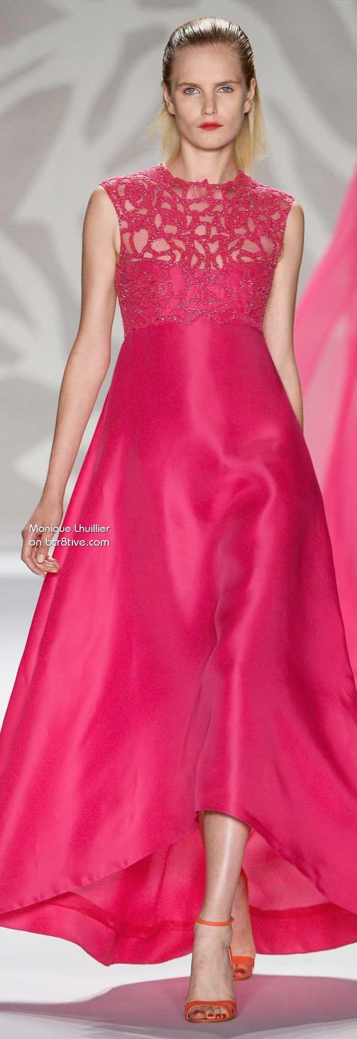Monique Lhuillier Spring 2014 | Vestidos de fiesta, Moda rosada y ...