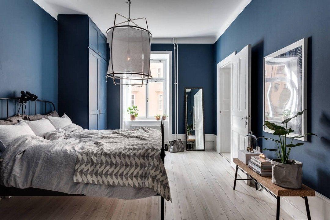 murs bleus en 2019 dom chambre bleu peinture chambre. Black Bedroom Furniture Sets. Home Design Ideas