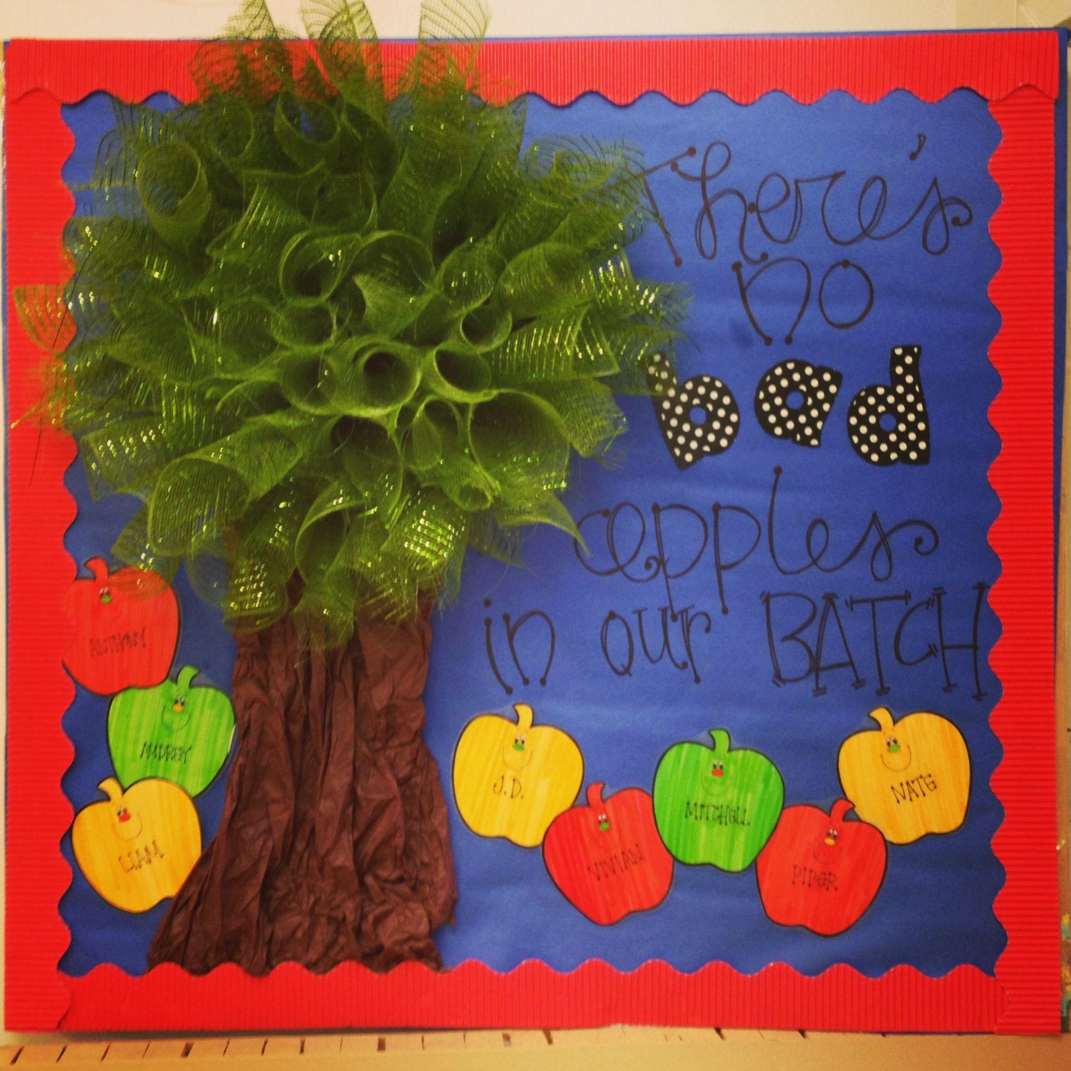 Bulletin Board Door Idea For August Back To School Theme