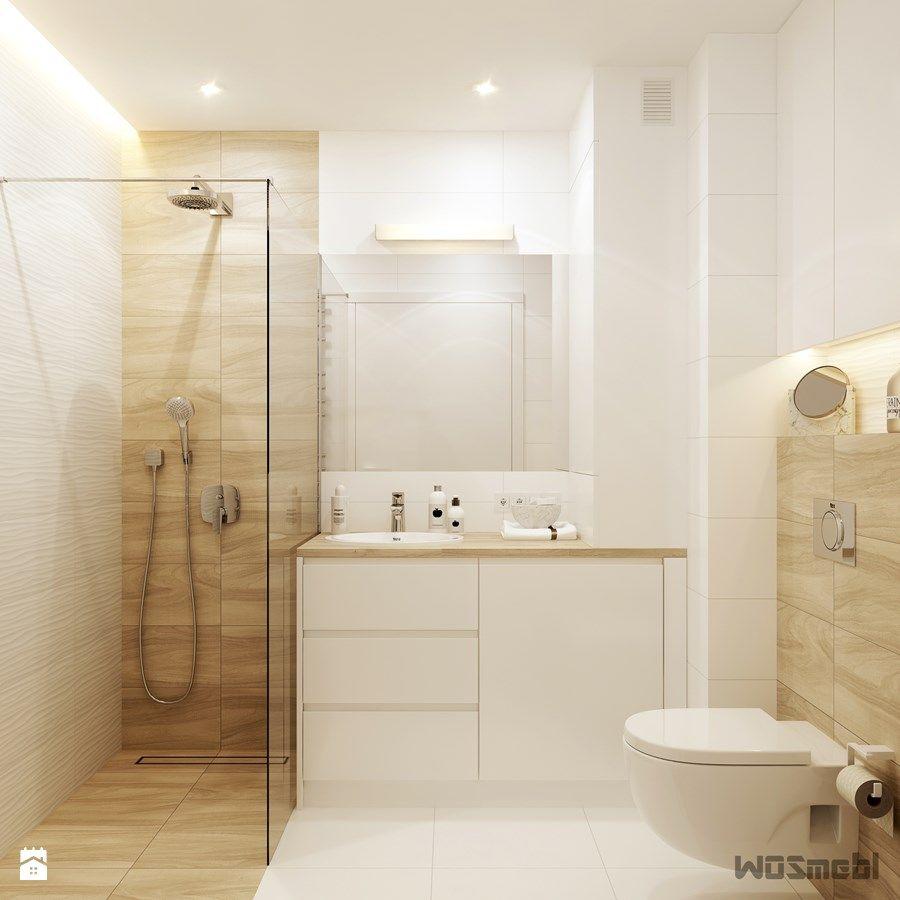 Łazienka Biel Drewno Mała łazienka W Bloku W Domu