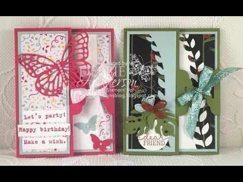 Scalloped Tag Topper Closure Card Fold using Stampin' Up! products. Debbie Henderson, Debbie's Designs.