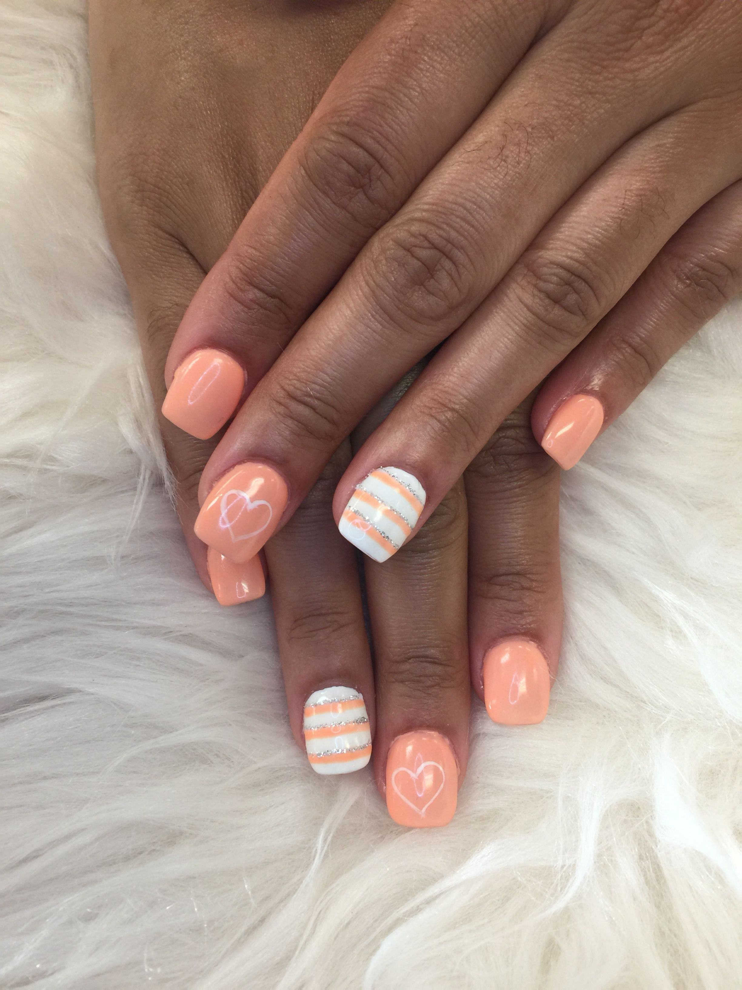 Peach Colors And Sample Nails Designs With Images Peach