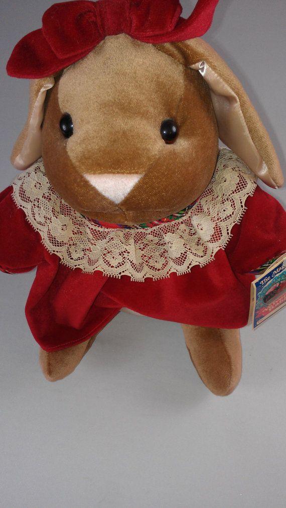 Nwt Velveteen Rabbit 1985 Stuffed Toys R Us 80s Girl Bunny Etsy Velveteen Rabbit Toys Bunny