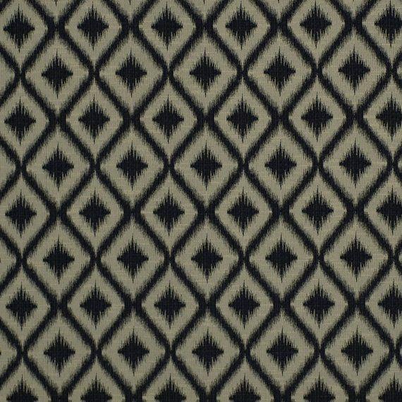 Black Ikat Fabric for Furniture Upholstery - Geometric Black Fabric - Ikat Pillow Material Black - Ikat Home Decor Yardage - Modern Ikat