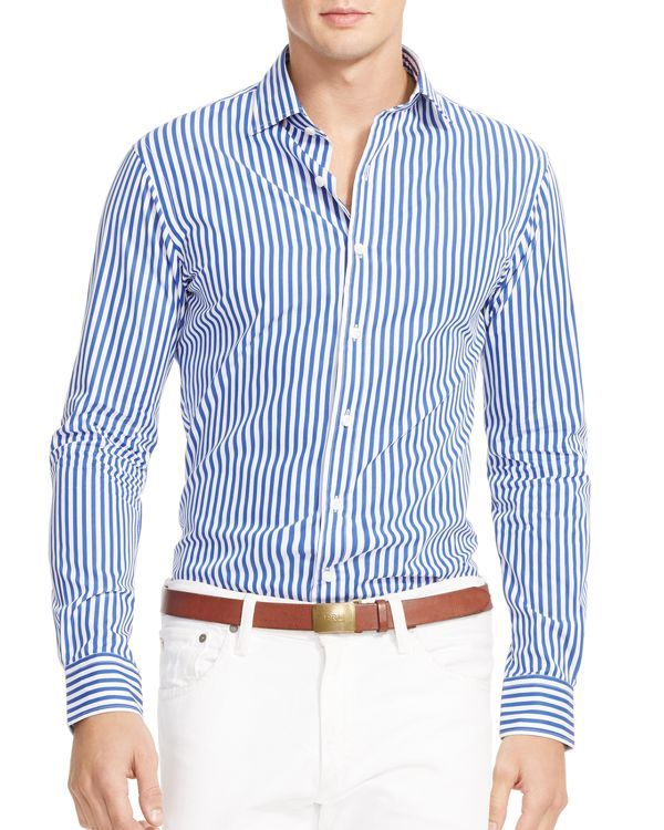573d676218 Ralph Lauren Bengal Stripe Slim Fit Button Down Shirt | Peacock in ...
