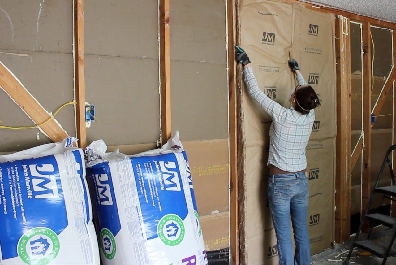 Insulating a Garage, Adding Outlets, and Installing OSB