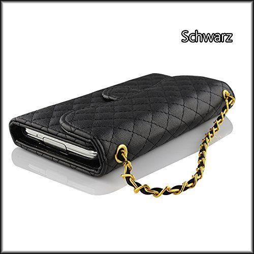 Original Urcover® Schutzhülle für das Samsung Galaxy S5 Handytasche mit Kartenfach und Displayschutz Folie Schwarz Black 6,90€