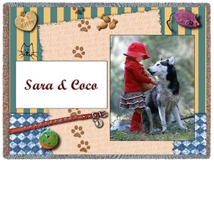 Custom Throw ~ Pet Motif