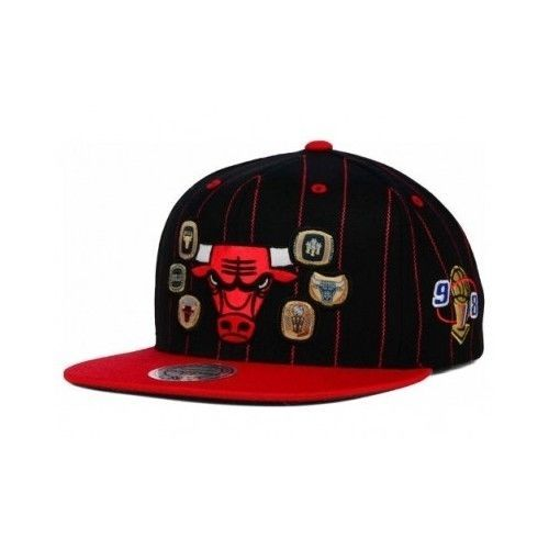 611f4690542 NBA Chicago Bulls Mitchell and Ness Cap Hat 6 Championships Rings 1998  Jordan  MitchellNess  ChicagoBulls