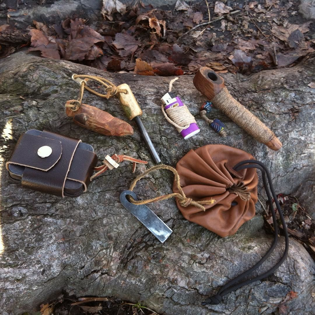 Bushcraft Survival Skills: A Little Of My Choicest #fire #kit. Most Of The Work's By