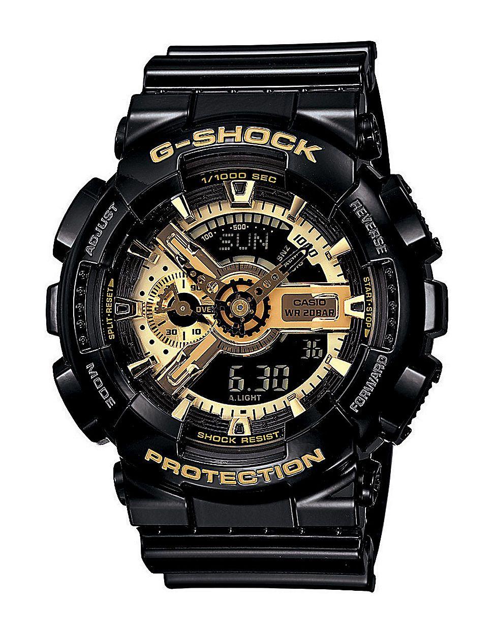 8c5200baa72cc3 Black and gold. Love it. Men's G-Shock Watch | versace, złoto ...